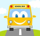 Cartone animato scuola bus — Foto Stock