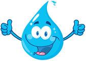 Smiling Water Drop — Stock Photo
