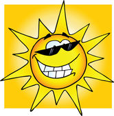 Smiling Sun With Sunglasses — Stockfoto