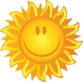 Sol sonriente — Foto de Stock