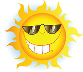 太阳与太阳镜 — 图库照片
