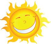 Happy Smiling Sun Cartoon Character — Stock Photo