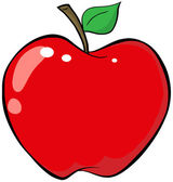Cartoon Red Apple — Stock Photo