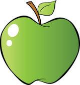 Green Apple In Gradient — Stock Photo