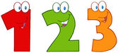 Funny Numbers One,Two And Three — Stock Photo
