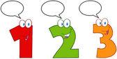 Números 1, 2 e 3 — Fotografia Stock