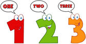 Numbers One,Two And Three — Stock Photo