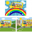 School Bus With Happy Children .Collection — Stock Photo #12728344