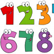 Funny Numbers Cartoon Mascot Characters .Collection — 图库照片