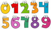Funny Numbers Cartoon Mascot Characters .Collection — Stock Photo