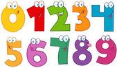 Numbers Cartoon Characters .Collection — Stock Photo