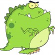 Green Dinosaur Cartoon Character — Stock Photo