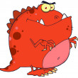 Red Dinosaur Cartoon Character — Stock Photo