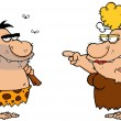 Caveman And Angry Cavewoman - Stock Photo