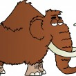 Mammoth Cartoon Character — Lizenzfreies Foto