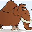 Stock Photo: Mammoth Cartoon Mascot Character