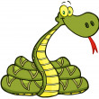 Snake Cartoon Character — Stock Photo