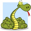 Snake Cartoon Mascot Character — Stock Photo #13290729