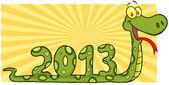 Numaraları 2013 gösterilen yılan — Stok fotoğraf