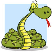 Snake Cartoon Mascot Character — Stock Photo