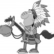 Indian Chief In Gray Color — Stock Photo