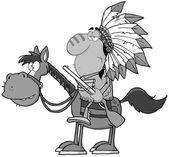 Gri renkli Kızılderili şefi — Stok fotoğraf