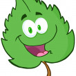 Green Leaf Cartoon Character — Stock Photo #13964902