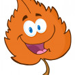 Orange Leaf Cartoon Character — Stock Photo #13964924