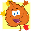 Orange Leaf Cartoon Character — Stock Photo #13964925