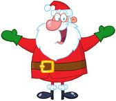 Jultomten med öppna armar — Stockfoto