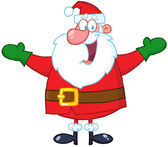 Santa claus mit offenen armen — Stockfoto