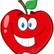 Stock Photo: Apple Cartoon Mascot Character