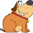 Fat Dog Cartoon Mascot Character — Stock Photo #19172007