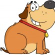 Stock Photo: Fat Dog Cartoon Mascot Character