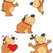 Different Fat Dogs Cartoon Mascot Characters- Collection — Stock Photo #19832827