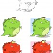 Dinosaur Mascot Characters- Collection - Stock Photo