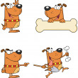 Dogs Cartoon Mascot Characters-Collection — Stock Photo
