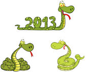 Snakes Characters- Collection — Stock Photo