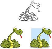 Snakes Cartoon Mascot Characters-Collection — Stock Photo