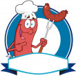 Stock Photo: Sausage Cartoon Mascot Logo