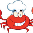 Happy Crab Chef — 图库照片
