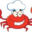 Happy Crab Chef — Stok Fotoğraf #20499269