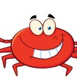Crab Cartoon Mascot Character — Stock Photo #20499309