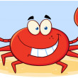 Crab Cartoon Mascot Character — Stock Photo #20499315