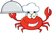 Crab Chef Cartoon Mascot Character — Stock Photo