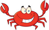 Crab Cartoon Mascot Character — Stock Photo
