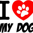 I Love My Dog Text With Red Heart — Stock Photo #20753123