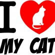 I Love My Cat Red Heart  — Stock Photo