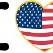 I Love America With USA Flag Heart - Stockfoto