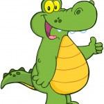 Smiling Alligator Or Crocodile — Stock Photo #20872217
